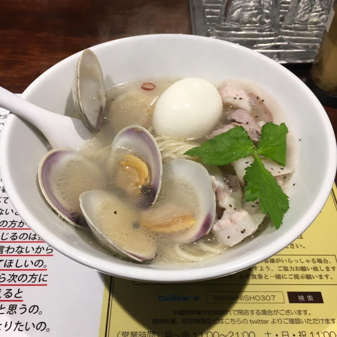 塩生姜らー麺専門店 MANNISH(東京)