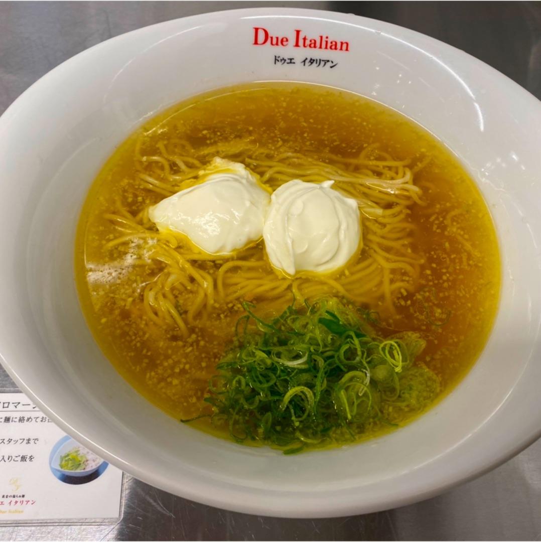 黄金の塩らぁ麺ドゥエイタリアン東急プラザ渋谷店